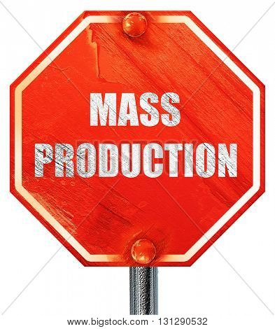 mass production, 3D rendering, a red stop sign