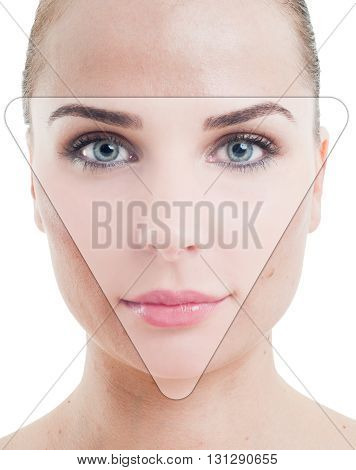 Retouched Photo Portrait Of A Woman With Perfect Skin