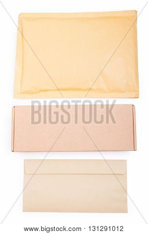 Blank Package, Box And Envelope With Copyspace