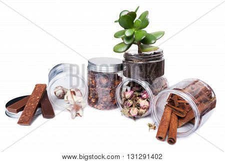 Home Kitchen Transparent Storage Containers Or Jars Presentation
