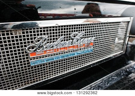 Podol, Ukraine - May 19, 2016: Logo Of Old Vintage Neo Classic Car Phillips Berlina Coupe, Built In