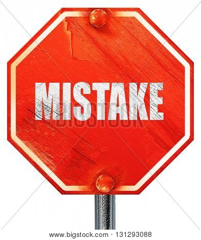 mistake, 3D rendering, a red stop sign