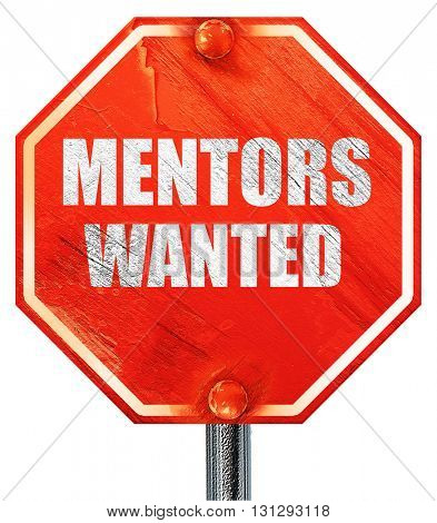 mentors wanted, 3D rendering, a red stop sign