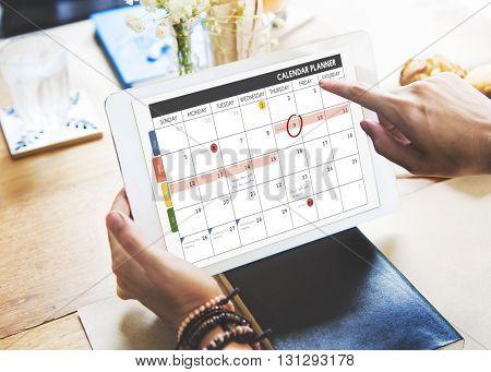 Calendar Planner Organization Management Remind Concept