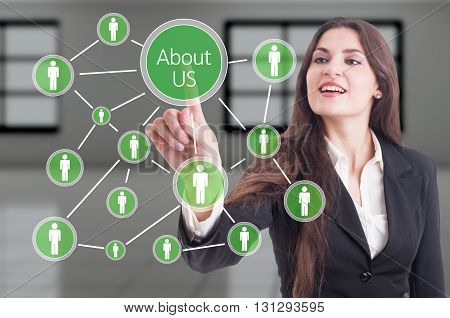 About Us Concept With Company People Connections