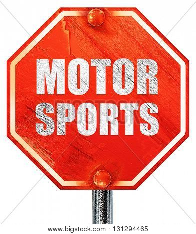 motor sports, 3D rendering, a red stop sign