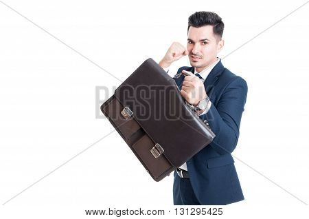 Confident And Powerful Salesman Businessman Or Banker