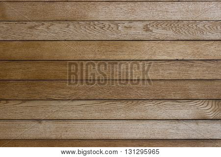 Background of textured wooden planks arranged horizontally