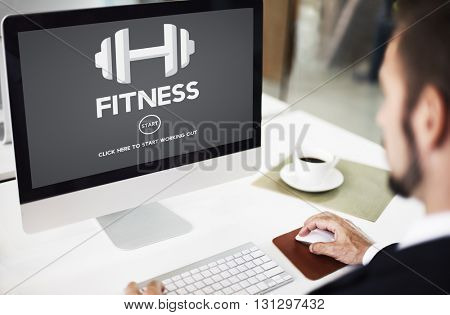 Fitness Health Physical Strength Training Workout Concept