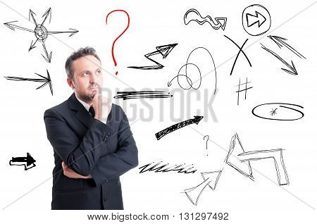Businessman Thinking To A New Business Project Or Strategy