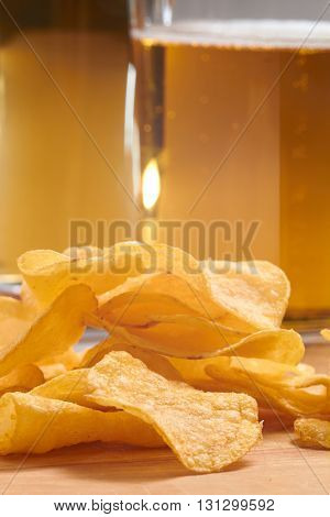 potato chips and beer
