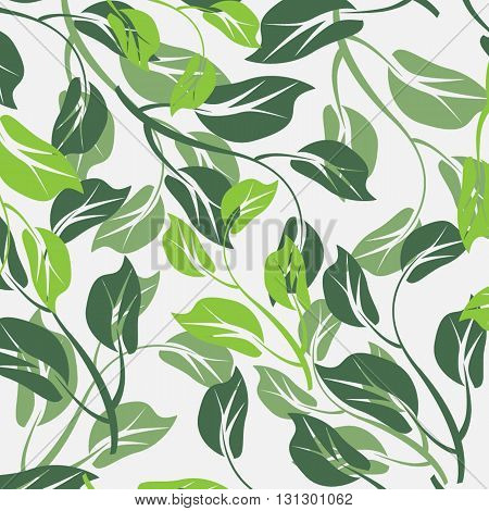 vector seamless flowers and floral pattern illustration