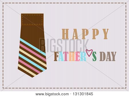 Fathers day design card background vector illustration.