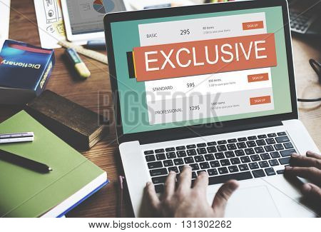 Exclusive Deal Discount E-commerce Shopping Concept