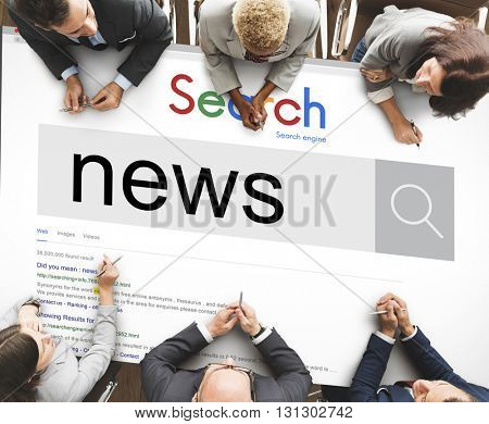 News Update Information Report Search Concept