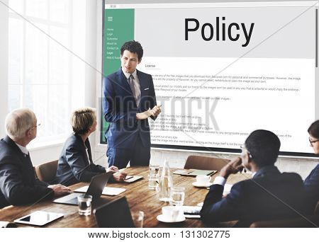 Privacy Policy Information Principle Strategy Rules Concept