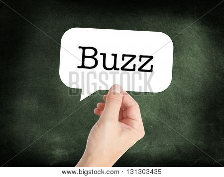 Buzz written on a speechbubble