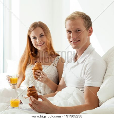 Couple At Hotel Room