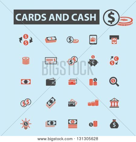cards and cash icons