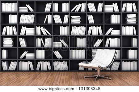 Bookcase With Armchair
