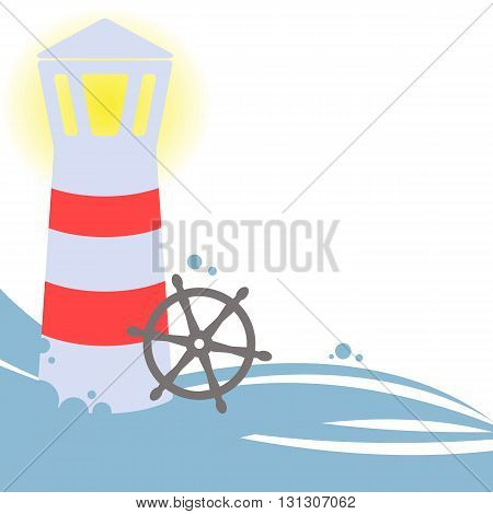 Lighthouse - Vector Illustration. Empty Space For Your Text.