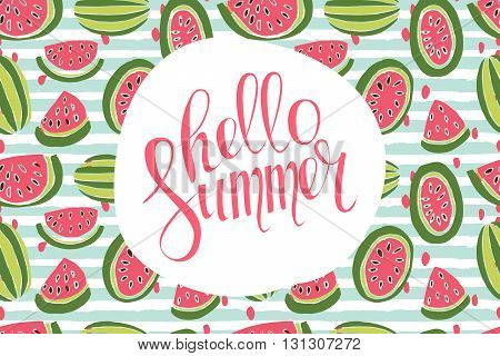 Hello Summer Inscription
