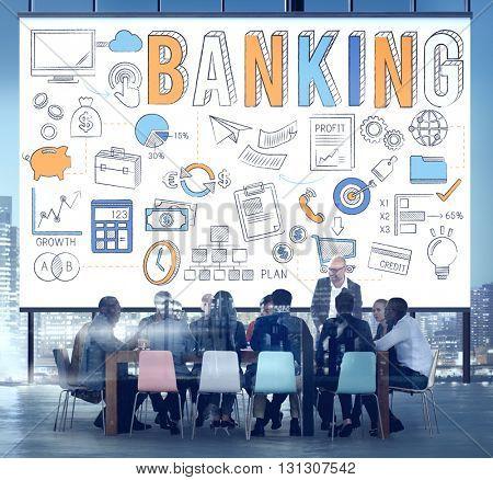 Banking Finance Money Savings Economy Concept