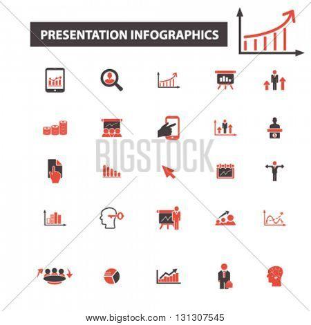 presentation infographics icons