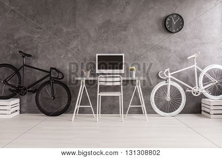 Room In Black And White Colors