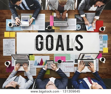 Goals Aim Aspiration Dreams Inspiration Vision Concept