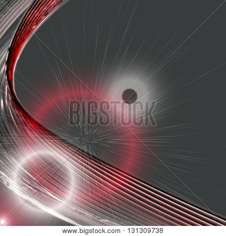 Powerful background design illustration in red and grey with light