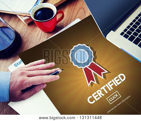 Certified Approval Agreement Confirmation Concept