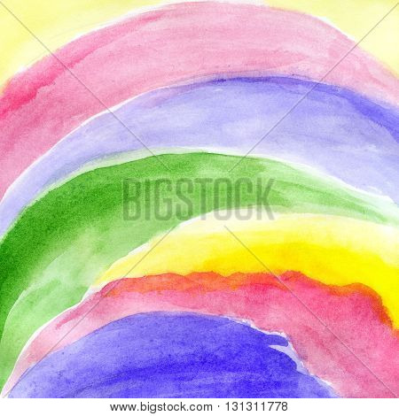 Bright background with abstract watercolor stripped pattern