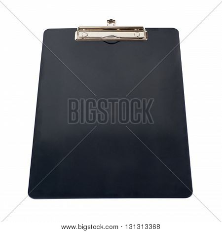Black empty Clipboard over isolated white background