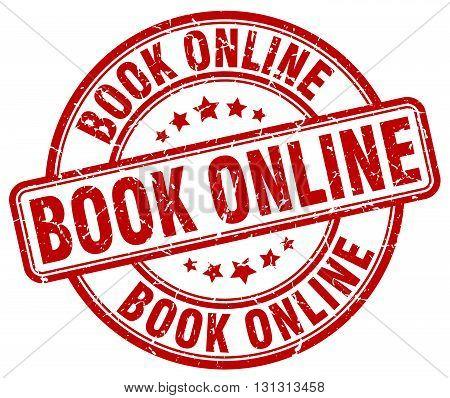 book online red grunge round vintage rubber stamp.book online stamp.book online round stamp.book online grunge stamp.book online.book online vintage stamp.