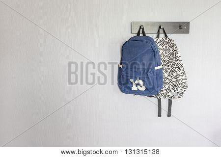 Bags Hanging On Hook