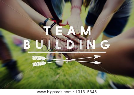 Team Building Teamwork Cooperation Relationship Concept