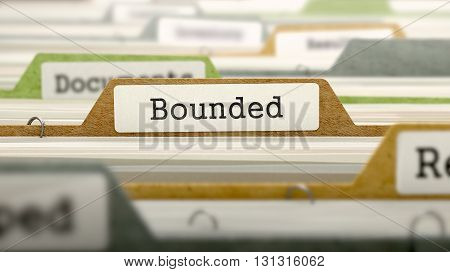 Bounded on Business Folder in Multicolor Card Index. Closeup View. Blurred Image. 3D Render.