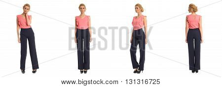 Full Length Portrait Of Beautiful Teen In Trousers