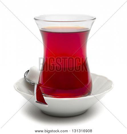 Traditional Turkish Tea Isolated