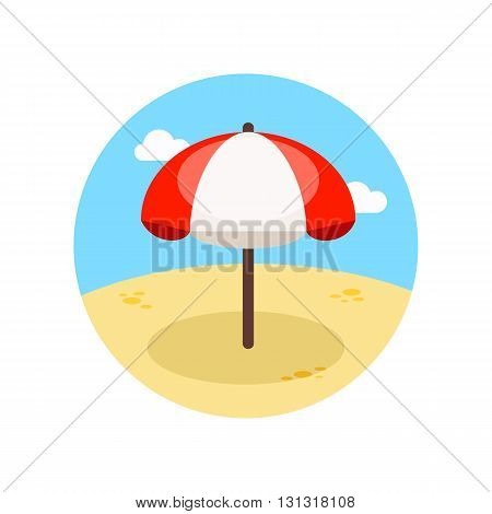 Beach parasol vector icon. Summer. Summertime. Vacation eps 10
