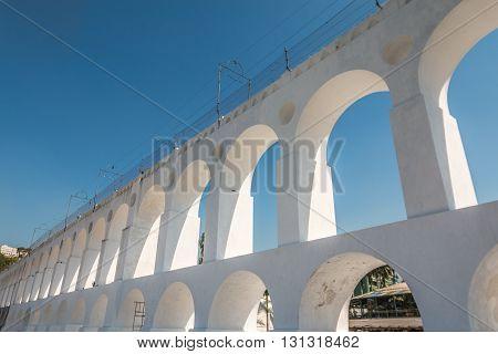 Carioca Aqueduct in Rio de Janeiro Brazil