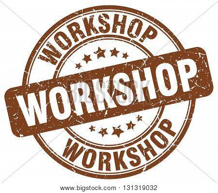 workshop brown grunge round vintage rubber stamp.workshop stamp.workshop round stamp.workshop grunge stamp.workshop.workshop vintage stamp.