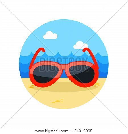 Sunglasses vector icon. Beach. Summer. Summertime. Vacation eps 10