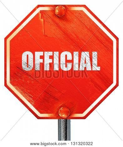 official sign background, 3D rendering, a red stop sign