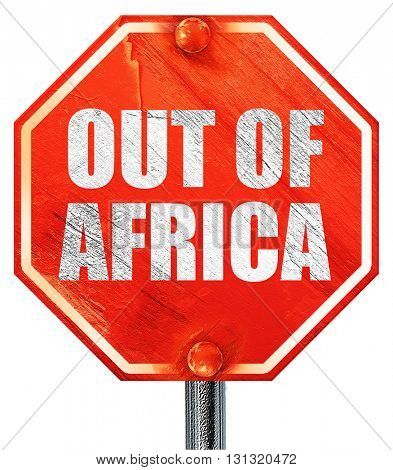 out of africa, 3D rendering, a red stop sign