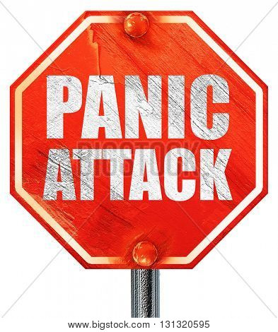 panic attack, 3D rendering, a red stop sign