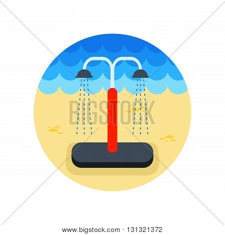 Summer beach pool shower vector icon. Beach. Summer. Summertime. Vacation eps 10