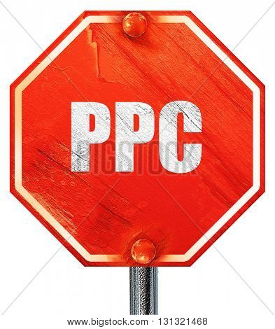 ppc, 3D rendering, a red stop sign