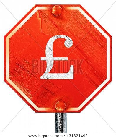 pound sign, 3D rendering, a red stop sign